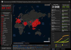 карта заражения вирусом